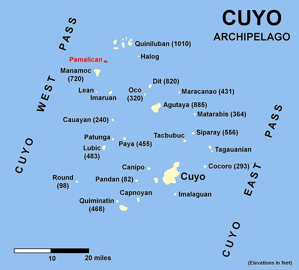 Pamalican map