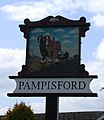 Pampisford (east end) Village Sign - geograph.org.uk - 758679.jpg
