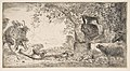 Pan reclincing near a large vase set in a landscape MET DP816373.jpg