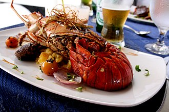Gourmet - Lobster is considered by some as a gourmet food due to its high price. Above is lobster creole
