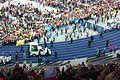 Papst Benedikt XVI. passiert Chargierte verschiedener Studentenverbindungen im Olympiastadion von Berlin.jpg