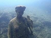 Parco archeologico di Baia - Ninfeo punta Epitaffio - statua Antonia Minore.jpg
