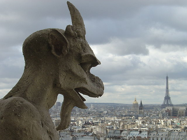 Gargoyle on Notre Dame Cathedral in Paris