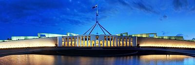 Parliament House Canberra Dusk Panorama Banner.jpg