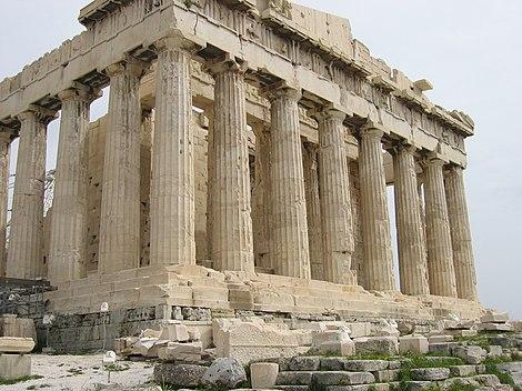 Parthenon de Atenas, Grecia. Arquitectos, Ictino, Calícrates y Fidias. 447 - 432 a.C.