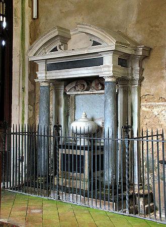 Paston, Norfolk - Tomb of Sir Edmund Paston, by Nicholas Stone