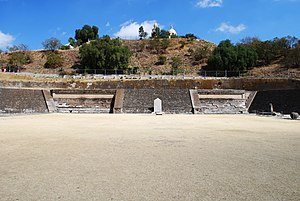 Great Pyramid of Cholula - View of the main courtyard