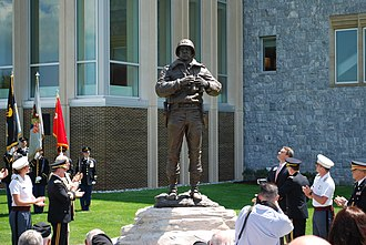 Patton Monument (West Point) - Image: Patton Statue Rededicated 15 May 2009