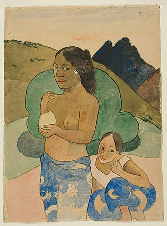 When Will You Marry? - Image: Paul Gauguin Two Tahitian Women in a Landscape NGA 1922.4795