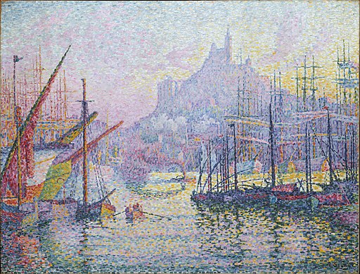 Paul Signac - Notre-Dame-de-la-Garde (La Bonne Mere) (1905-06, Marseilles, Metropolitan Museum of Art New York Collection)