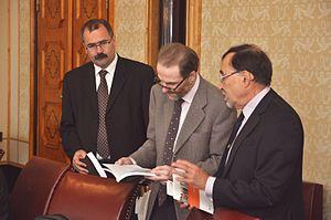 Timothy Garton Ash - Pavel Žáček, Timothy Garton Ash and Kristian Gerner (Tallinn, 2012)