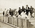 Pawnee Indians from the Department of Anthropology waiting on the Intramural Railway Platform at the 1904 World's Fair.jpg