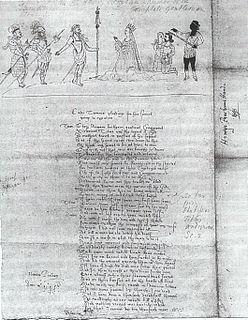 Peacham drawing