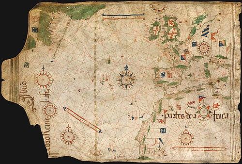 Portuguese nautical chart