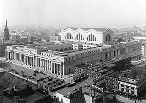 History of New York City (1898–1945) - Pennsylvania Station, opened in 1910