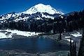 People on trail around lake. Mt Rainier. Snow. 61983. slide (47a53efccf414462b226878dea7f1a4e).jpg