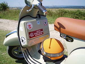 Vespa - Glove box on newer Vespa PX
