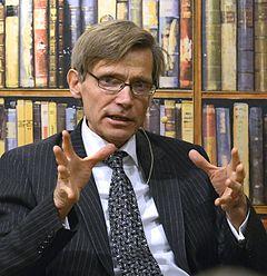 Per Svensson præsenterer sin nye bog Vasakärven og jernrøret i Stockholm i december 2014.