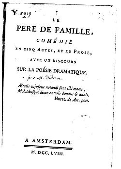 Image illustrative de l'article Le Père de famille (Diderot)