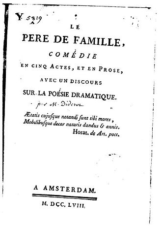 Le Père de famille - Title page of first edition (1758)
