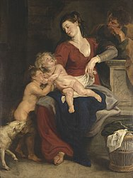 Peter Paul Rubens: The holy family with the basket