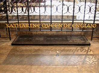 Grave of Catherine of Aragon in Peterborough Cathedral Peterborough Katherine of Aragon.JPG