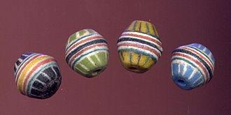 Powder glass beads - Krobo powder glass beads, bicones