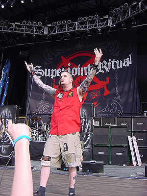 Superjoint - Phil Anselmo performing with Superjoint Ritual at Ozzfest in July 7, 2004