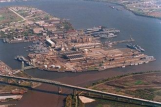 Naval Inactive Ship Maintenance Facility - Philadelphia NISMF in 1995.