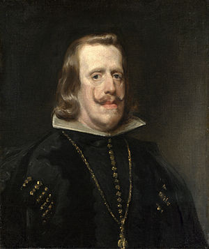 A Game at Chess - Philip IV of Spain, model for the Black King