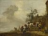 Philips Wouwerman - A Horse being Shod outside a Village Smithy (1640s).jpg