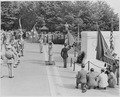Photograph of Field Marshal Bernard Montgomery at Arlington National Cemetery, saluting the Tomb of the Unknown Soldier. - NARA - 199421.tif