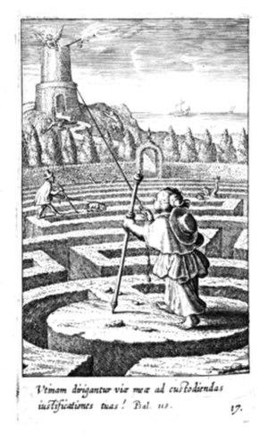Boetius à Bolswert - Pia Desideria´s emblem XVII. Engraved by Boetius à Bolswert in 1624.