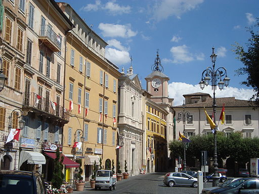 Piazza cavour Anagni