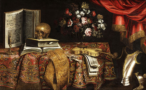 Pier Francesco Cittadini from 17th century school Pier Francesco Cittadini Vanitas-Stillleben.jpg
