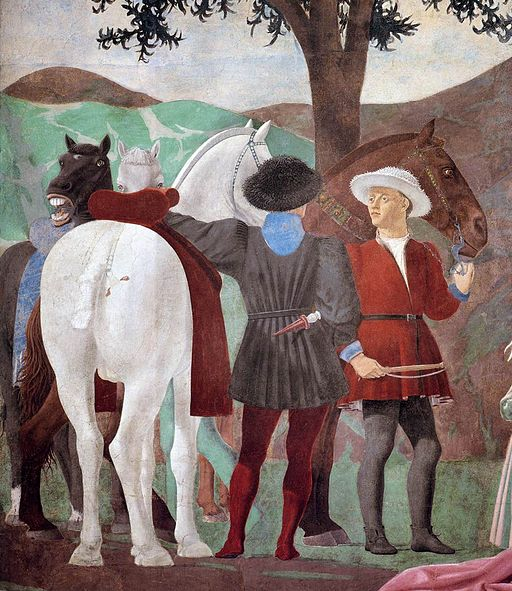 Piero della Francesca - 2a. Procession of the Queen of Sheba (detail) - WGA17493
