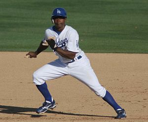 Dodgers Juan Pierre during spring training act...