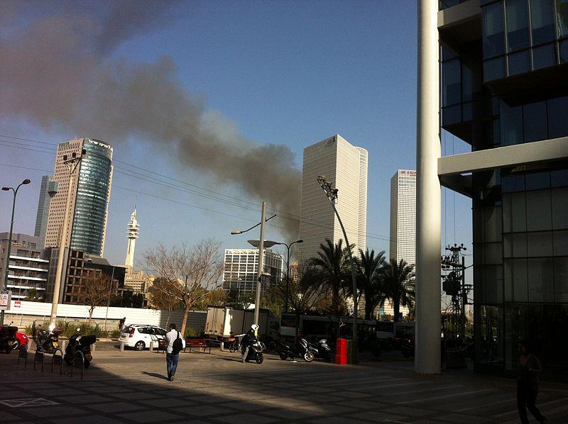 שריפה בתל אביב