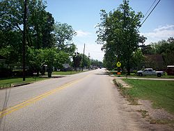 Main Street in Pinckard, Alabama
