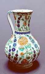 pitcher with flower decoration