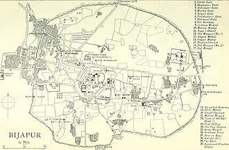 Bijapur - Plan of Bijapur, 1911