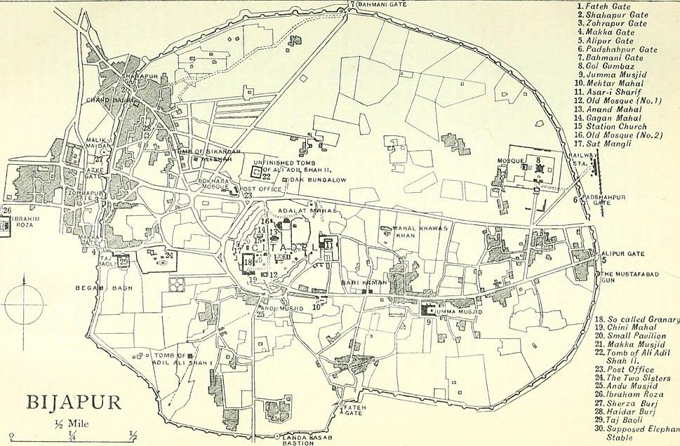 Plan of Bijapur India 1911