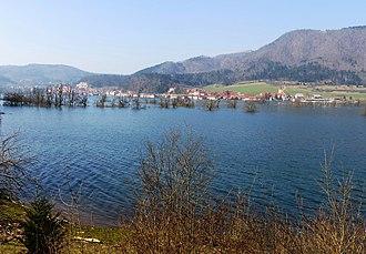 Planina, Postojna - Image: Planina Postojna Slovenia flooded plain