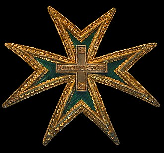 Royal Military and Hospitaller Order of Our Lady of Mount Carmel and Saint Lazarus of Jerusalem united - Cross of the order
