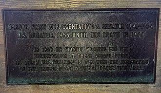 Richard L. Neuberger - Plaque at Oregon Dunes National Recreation Area, Oregon Dunes Overlook