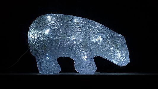 Plastic polar bear with LED lights