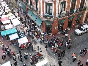 Feria de San Telmo - View to the southern side of the fair.