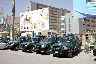 Kabul Province - Common vehicles of the Afghan National Police