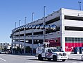 Police special ops vehicle and NE parking garage - Washington Nationals Park - 2013-09-17.jpg