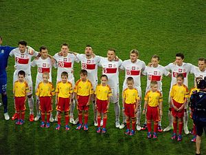 Player escort - Player escorts with Polish national team during UEFA Euro 2012